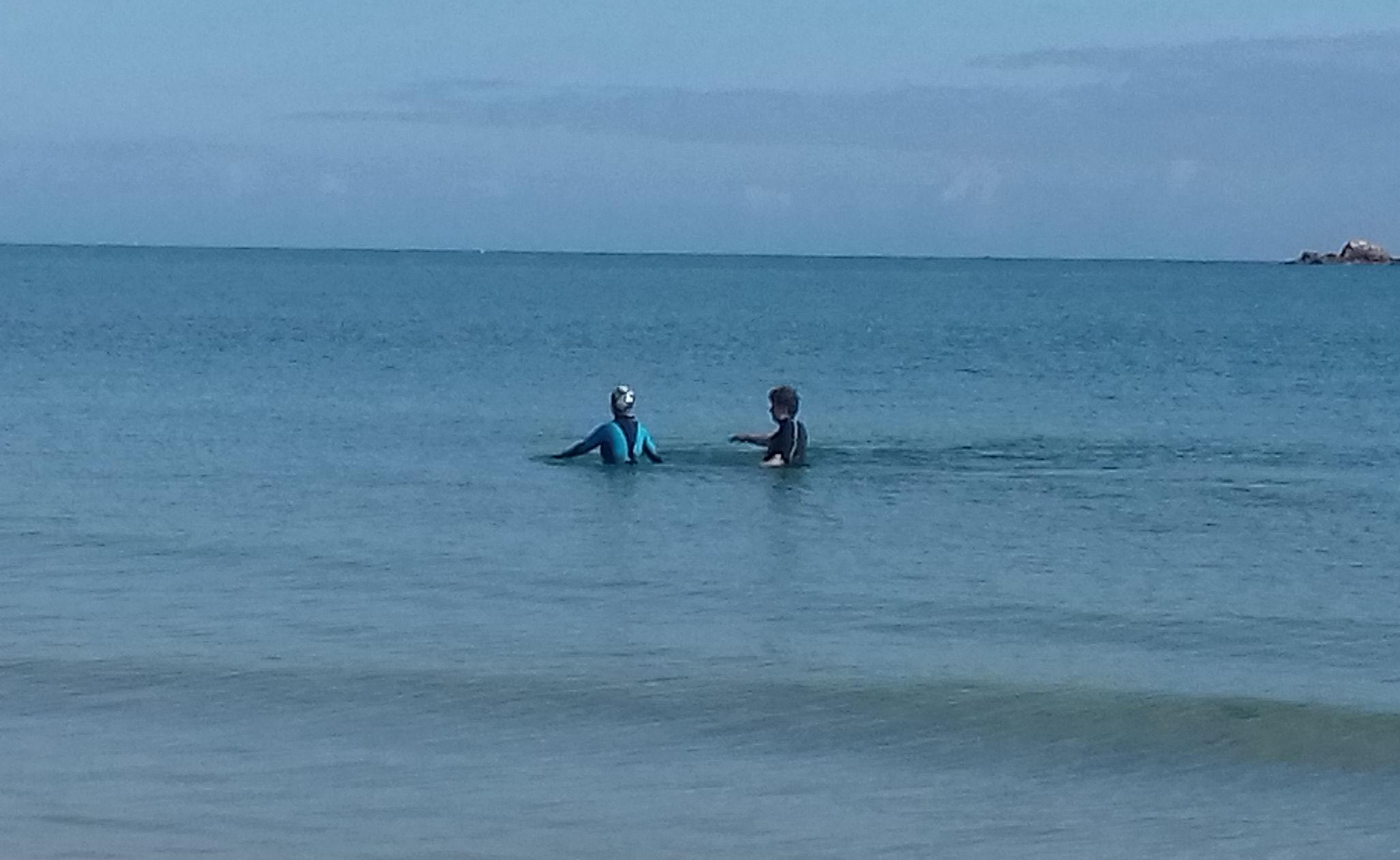 Marche aquatique en duo