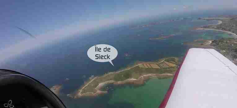 Île de Sieck vue du ciel